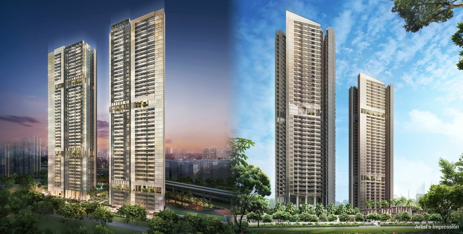 Commonwealth Towers Condominium Day and Night Perspective