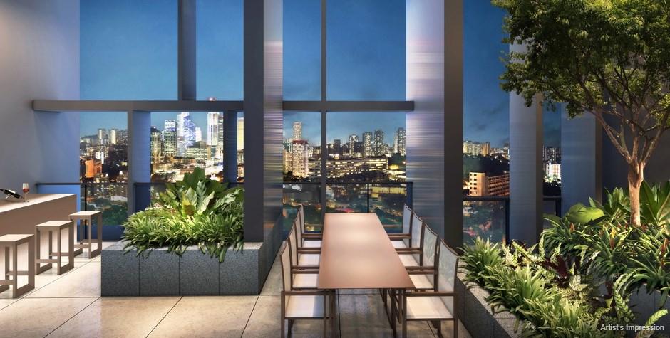 Commonwealth Towers Condominium Sky Terrace Lounge