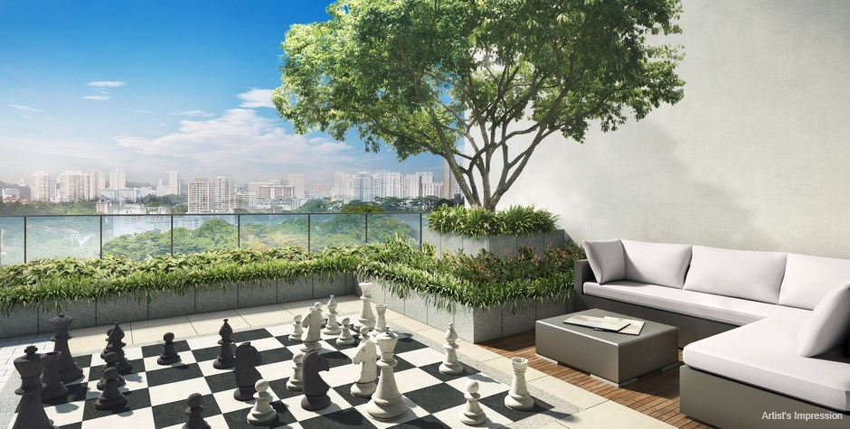 Commonwealth Towers Condominium Chess Deck