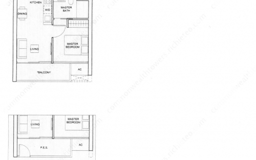 Commonwealth Tower Condominium Type (1)a, (1)a1 - 1 Bedroom