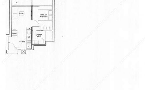 Commonwealth Tower Condominium Type (1)b - 1 Bedroom