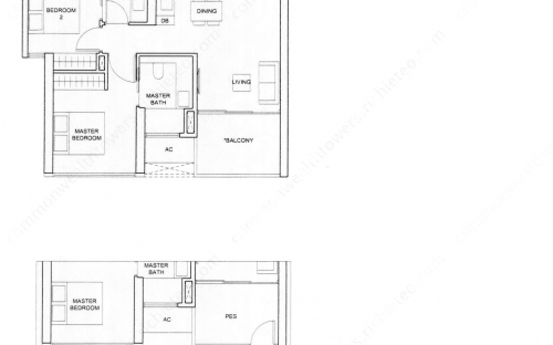 Commonwealth Tower Condominium Type (2)a, (2)a1 - 2 Bedroom