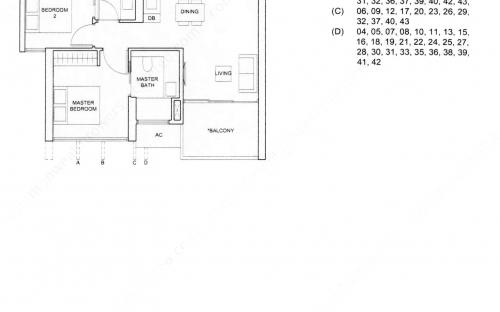 Commonwealth Tower Condominium Type (2)d - 2 Bedroom