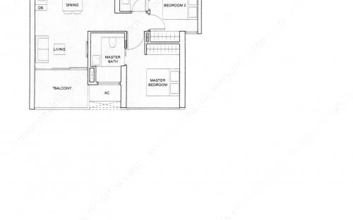 Commonwealth Tower Condominium Type (2)e - 2 Bedroom