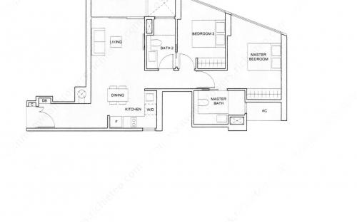Commonwealth Tower Condominium Type (2)g - 2 Bedroom